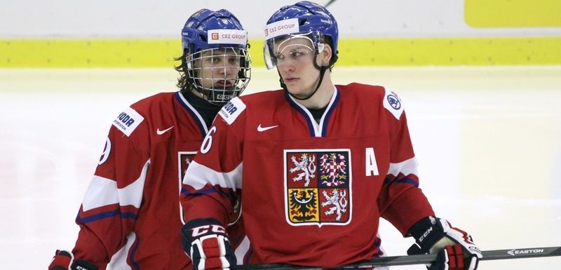 David Pastrnak och Radek Faksa.