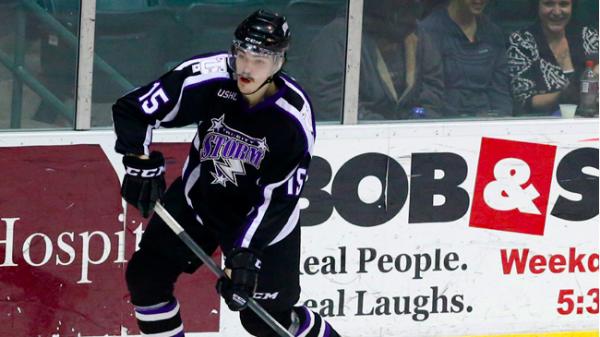 Fredrik Larsson, här i collegeligan USHL.
