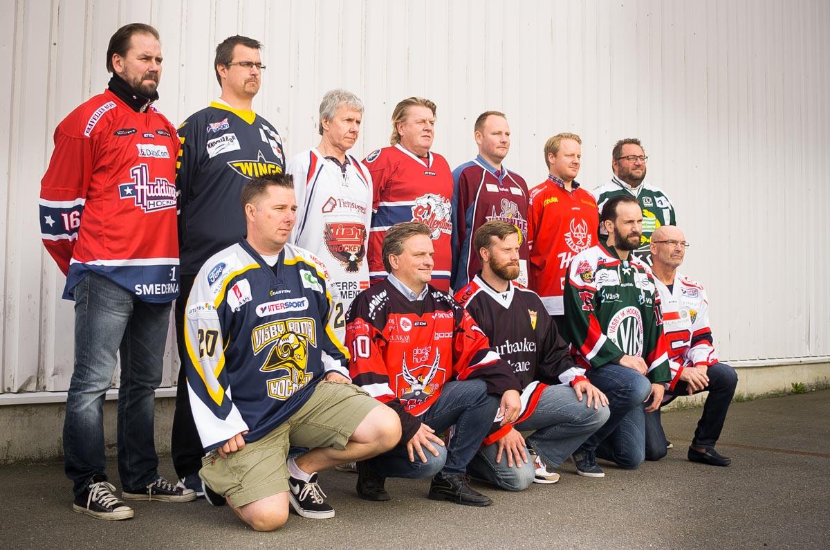 Tränarna i div-1 Östra. Foto: David Nilsson Hamne