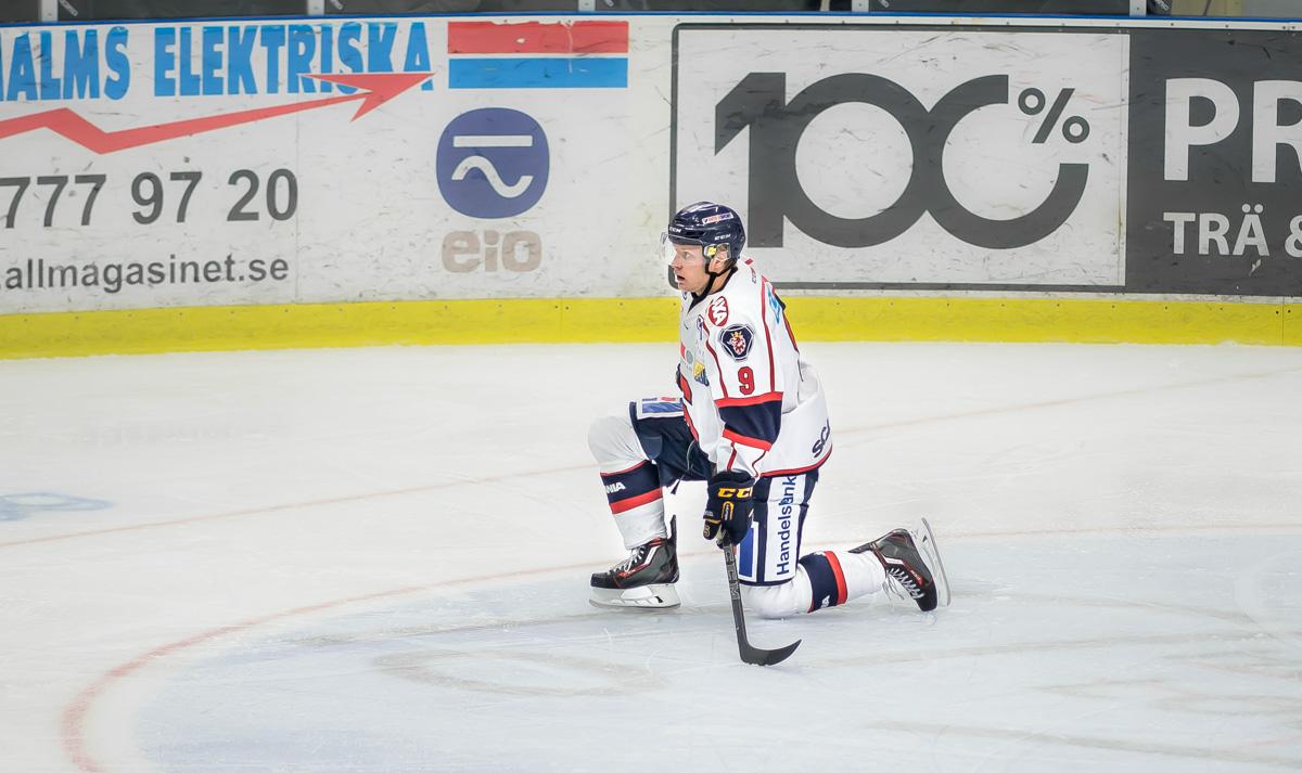 Jakob Wallin deppar efter en träningsmatch under försäsongen. Torsk. Foto: David Nilsson Hamne