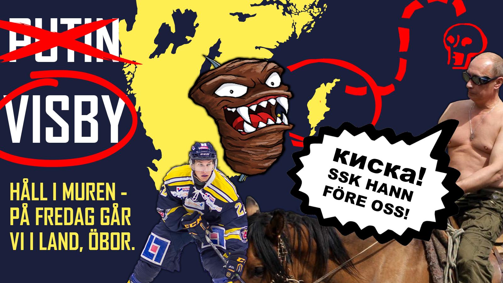 Ryssland är nere. Nu väntar Visby.