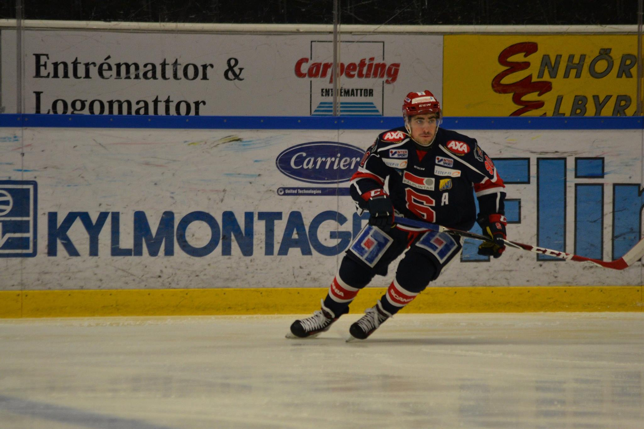 Nik Simsic, assisterande lagkapten i SSK J20. Foto: Elin Lillsunde.