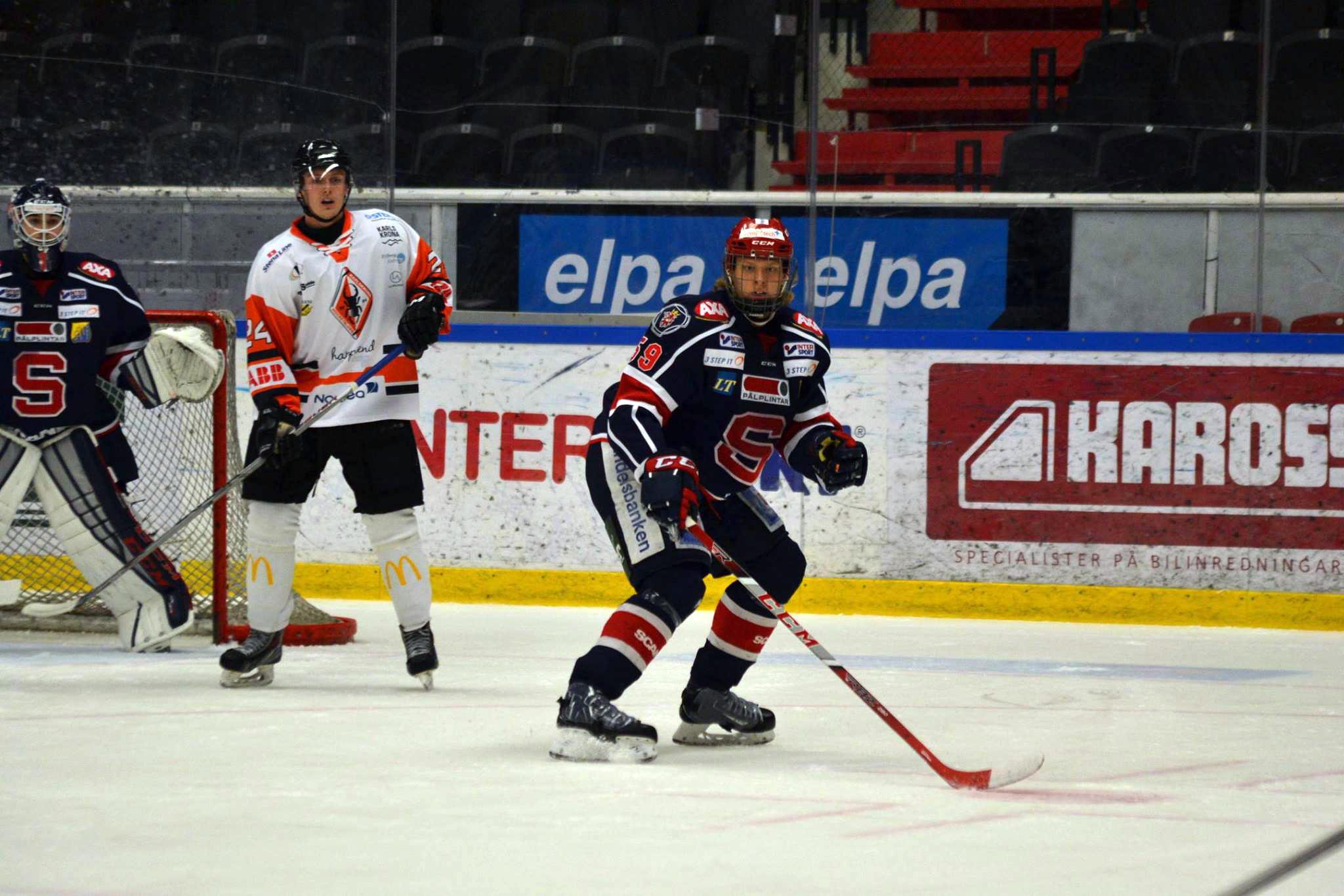 Lukas Klarström i en match mot Karlskrona. Foto: Elin Lillsunde.