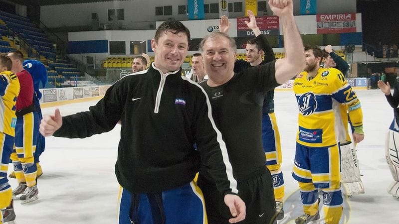 Miroslav Zalesak till vänster. Bilden är från 2016.