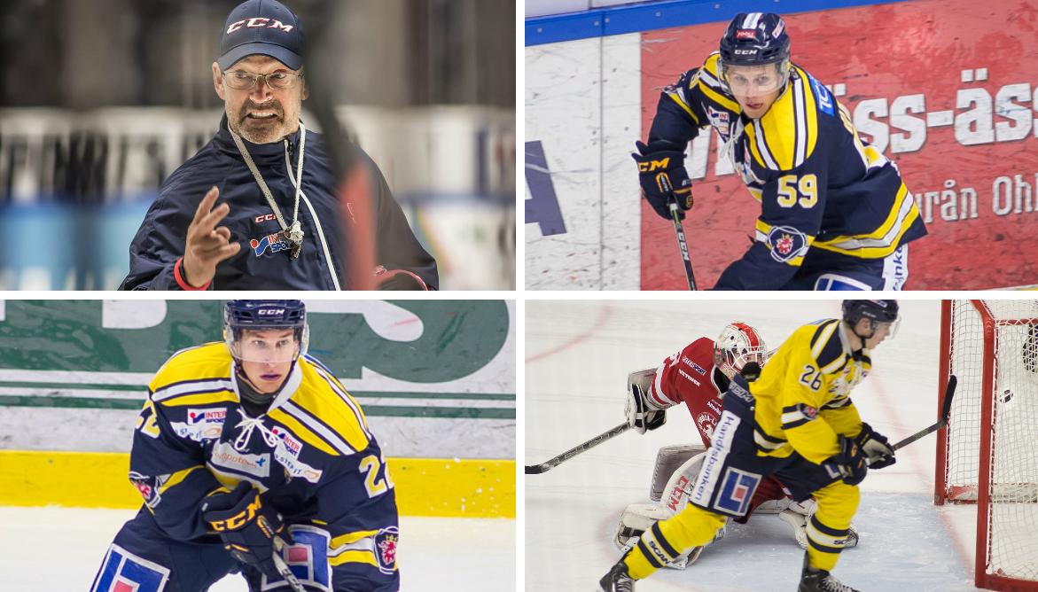 Waltin, Hansen, Weigel och Holm. Foto: David Nilsson Hamne.