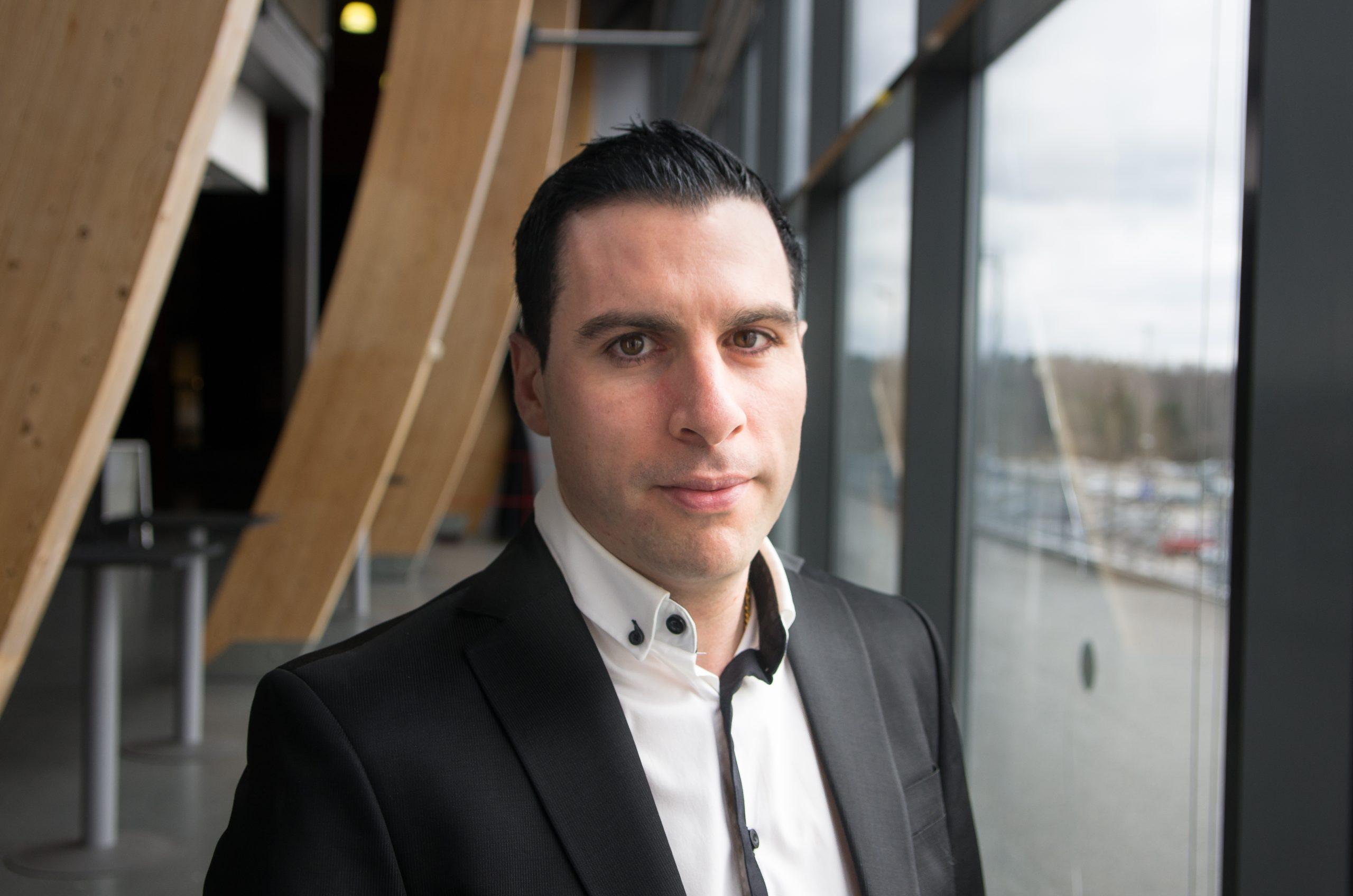 Jonny Ishak, som startade Fansens Initiativ. Foto: David Nilsson Hamne