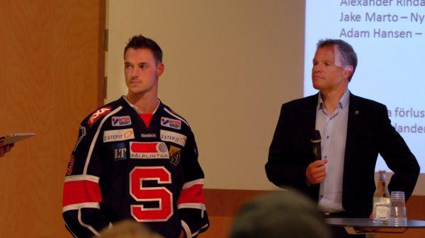 Gregoire och Strömvall på upptaktsträffen.