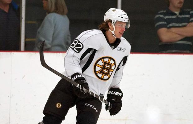 David Pastrnak under Boston Bruins träningsläger.
