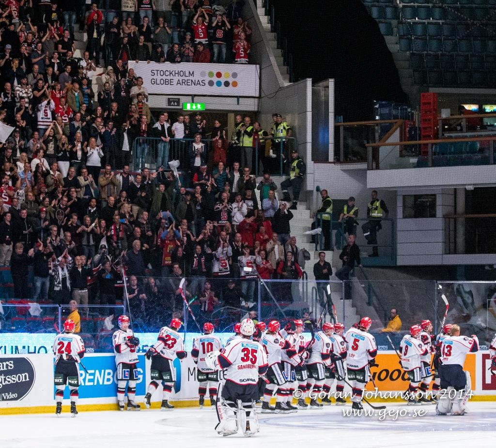 Så här såg det ut när SSK gästade AIK i seriepremiären på Hovet i september 2014.