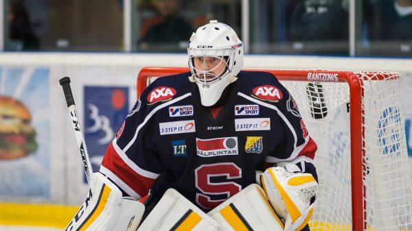 Alexander Sahlin under försäsongen i SSK. Foto: David Nilsson Hamne