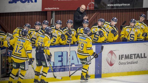 Firar mål och Waltin är nöjd. Foto: David Nilsson Hamne