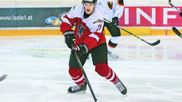 Lukas Haudum i landslaget.